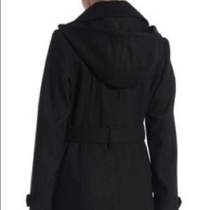 Michael Kors hooded peacoat with belt